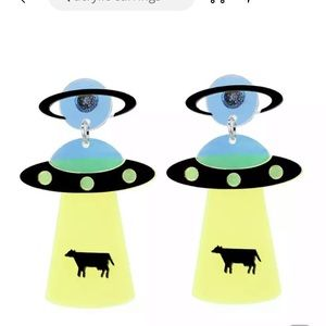 UFO Earrings BEAM ME UP BETSY any 2 for $25